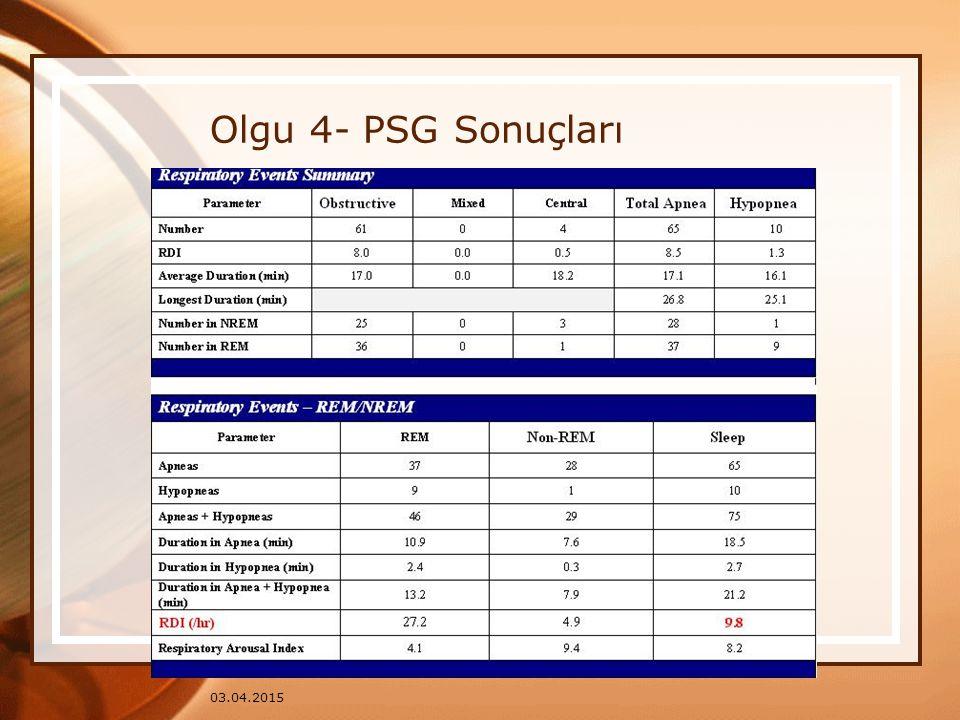 Olgu 4- PSG Sonuçları 09.04.2017