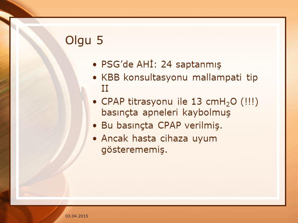 Olgu 5 PSG'de AHİ: 24 saptanmış KBB konsultasyonu mallampati tip II