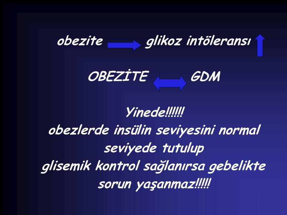 obezite glikoz intöleransı OBEZİTE GDM Yinede!!!!!!