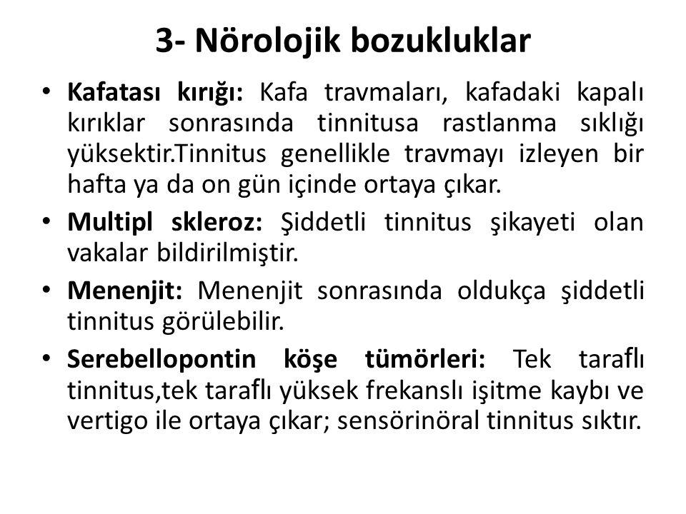 3- Nörolojik bozukluklar