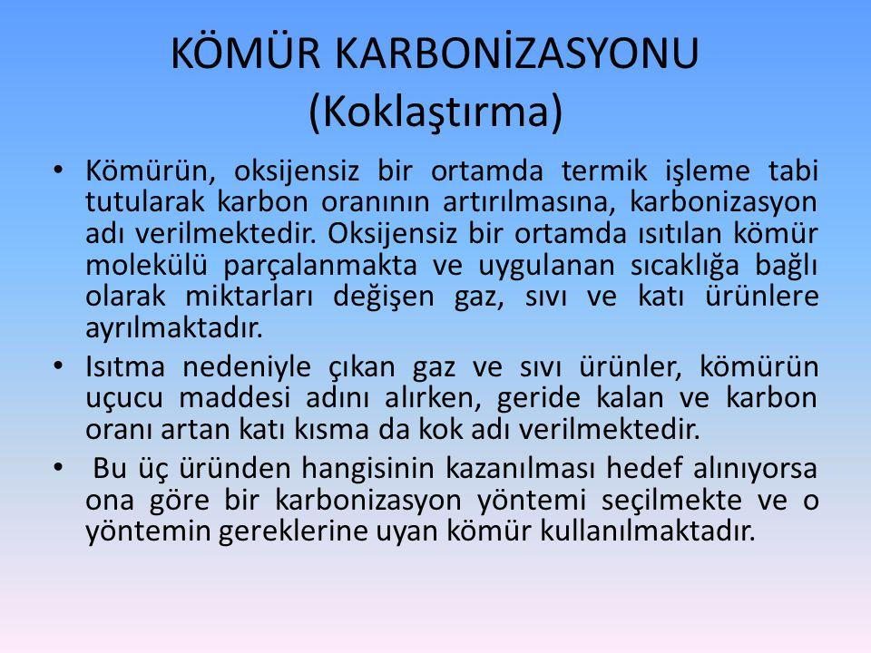 KÖMÜR KARBONİZASYONU (Koklaştırma)