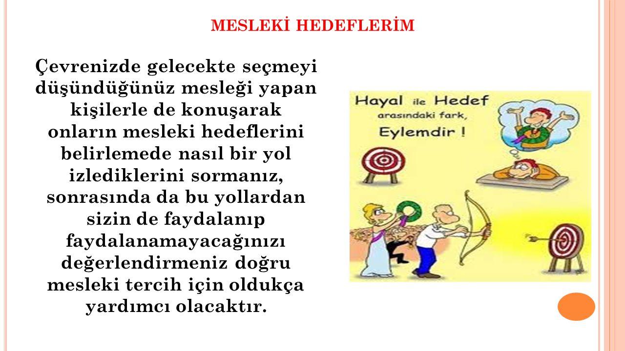 MESLEKİ HEDEFLERİM