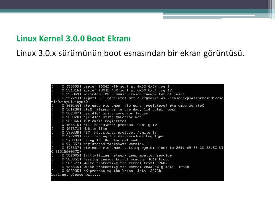 Linux Kernel 3. 0 Boot Ekranı Linux 3