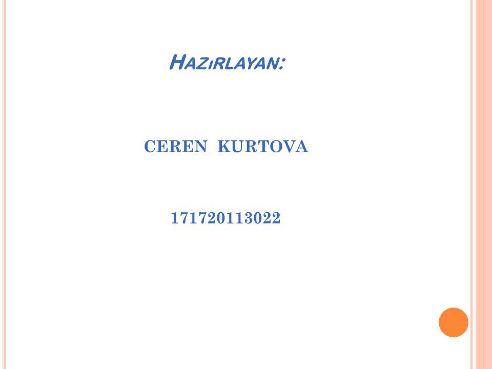 Hazırlayan: CEREN KURTOVA 171720113022
