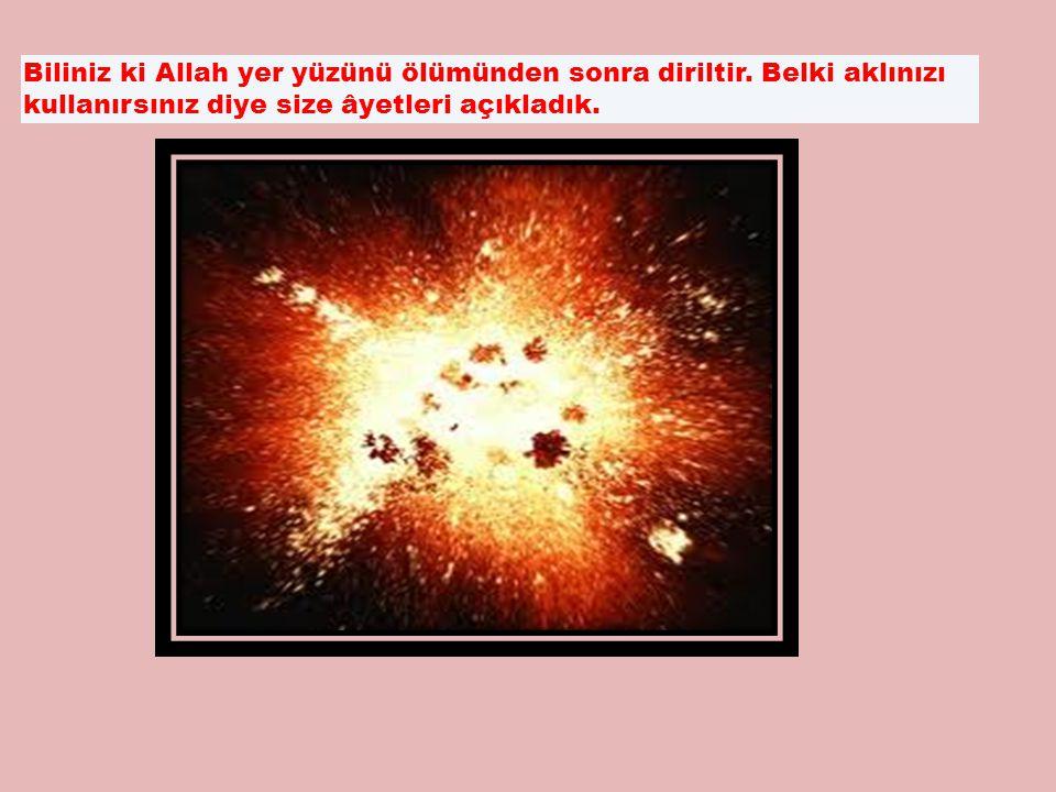 Biliniz ki Allah yer yüzünü ölümünden sonra diriltir