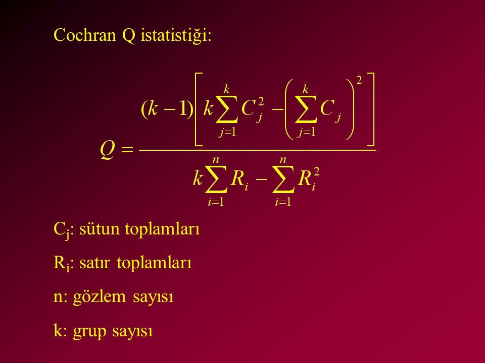 Cochran Q istatistiği: