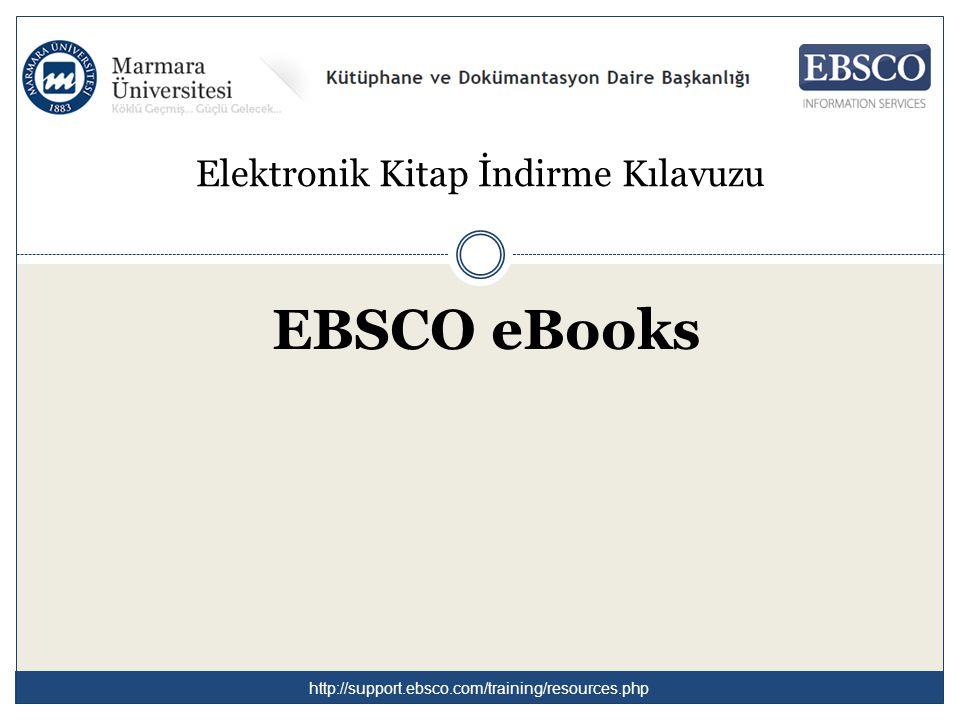 Elektronik Kitap İndirme Kılavuzu