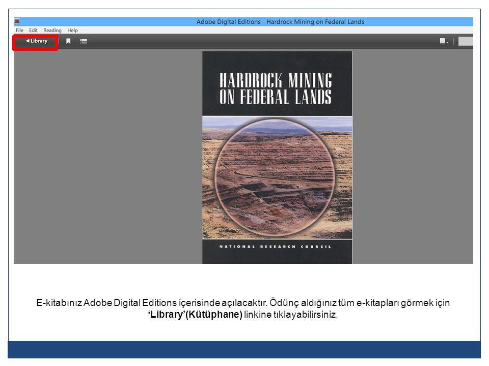 E-kitabınız Adobe Digital Editions içerisinde açılacaktır
