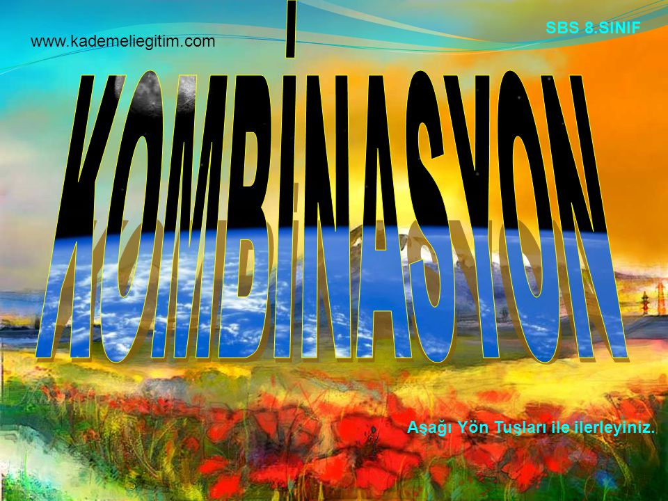 KOMBİNASYON SBS 8.SINIF www.kademeliegitim.com