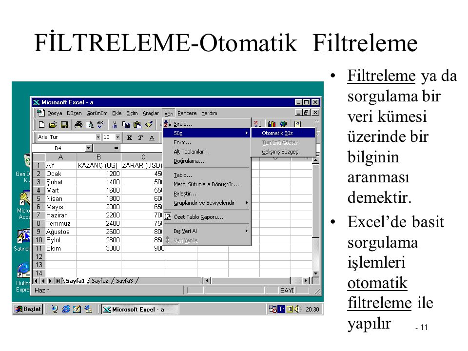 FİLTRELEME-Otomatik Filtreleme