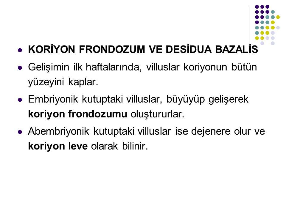 KORİYON FRONDOZUM VE DESİDUA BAZALİS