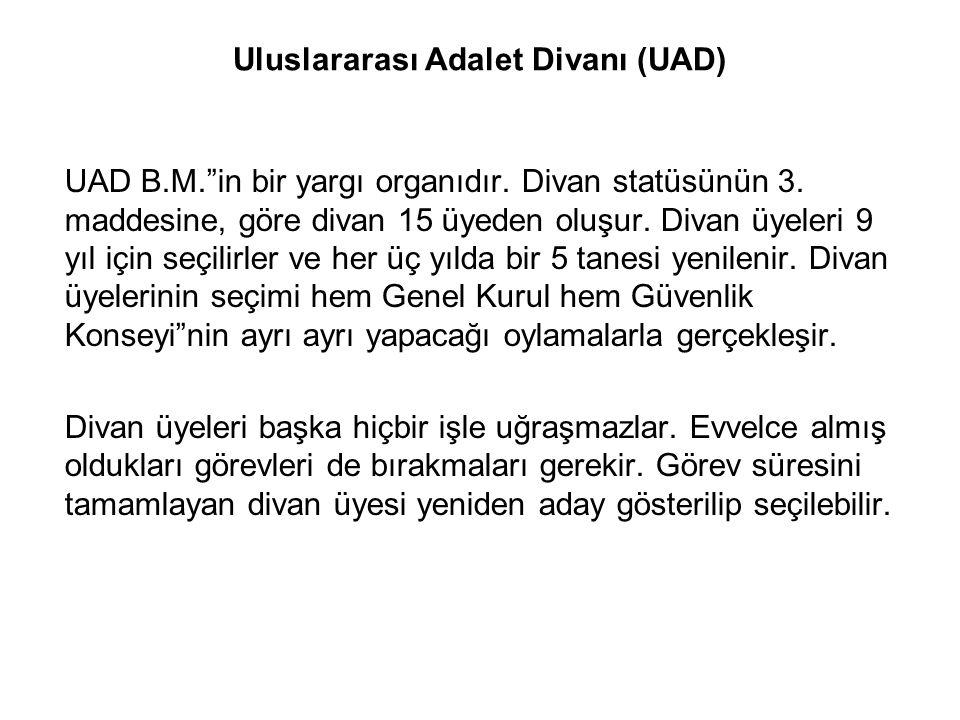 Uluslararası Adalet Divanı (UAD)