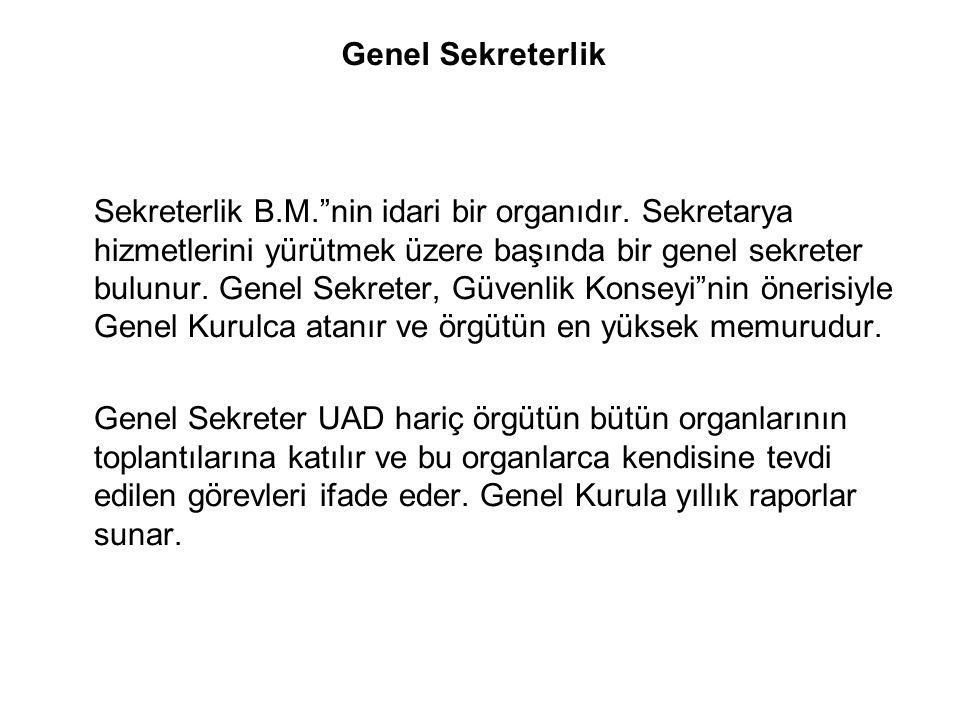 Genel Sekreterlik