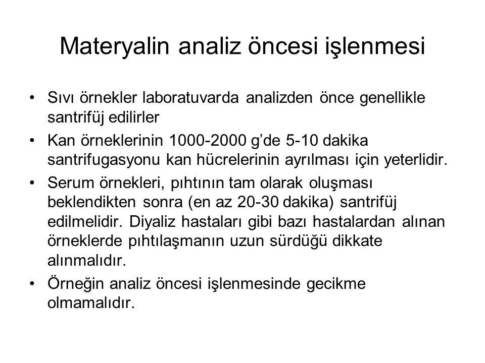 Materyalin analiz öncesi işlenmesi