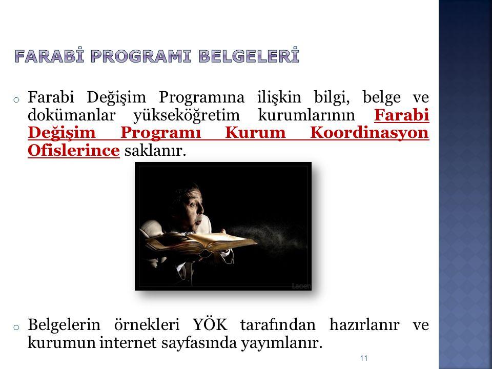 Farabİ programI belgelerİ