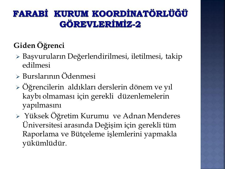 FARABİ KURUM KOORDİNATÖRLÜĞÜ Görevlerİmİz-2