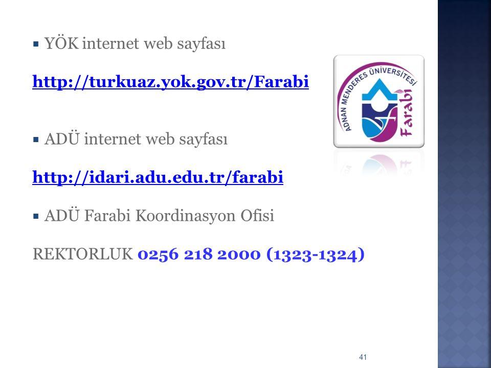 YÖK internet web sayfası