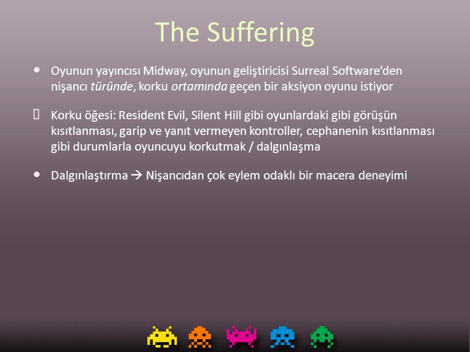 The Suffering Oyunun yayıncısı Midway, oyunun geliştiricisi Surreal Software'den nişancı türünde, korku ortamında geçen bir aksiyon oyunu istiyor.