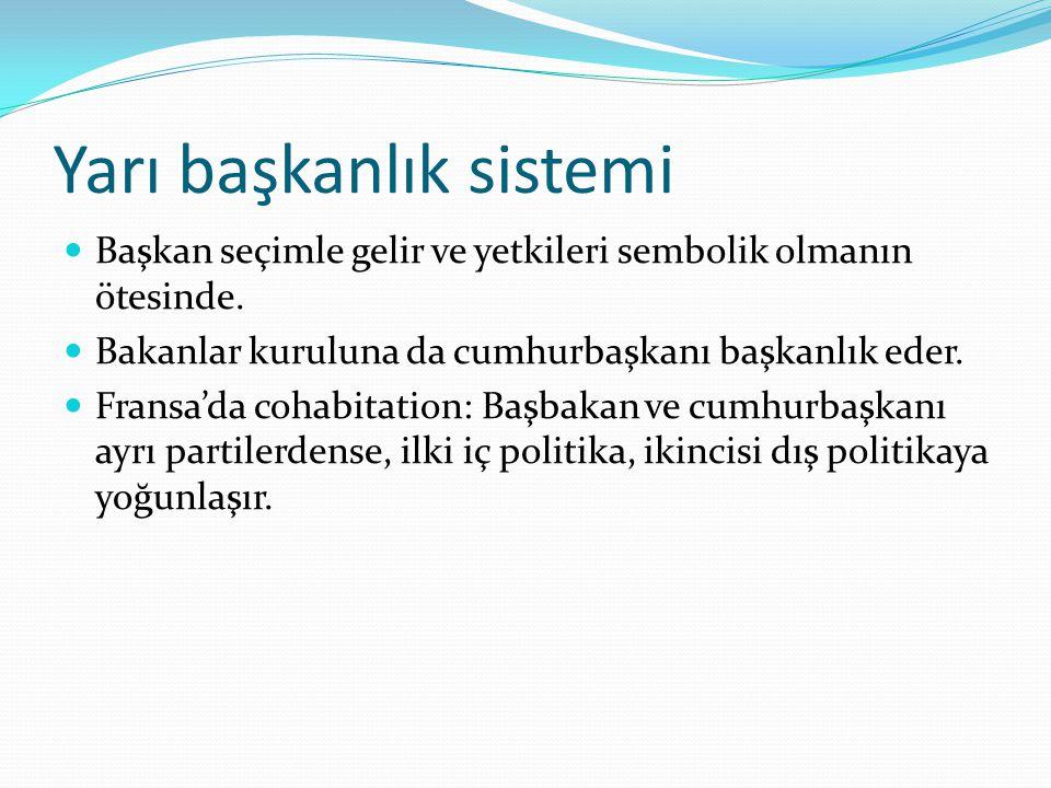 Yarı başkanlık sistemi