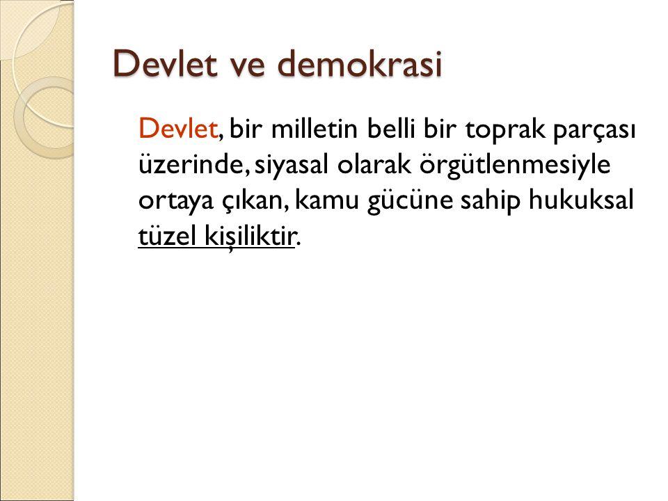 Devlet ve demokrasi
