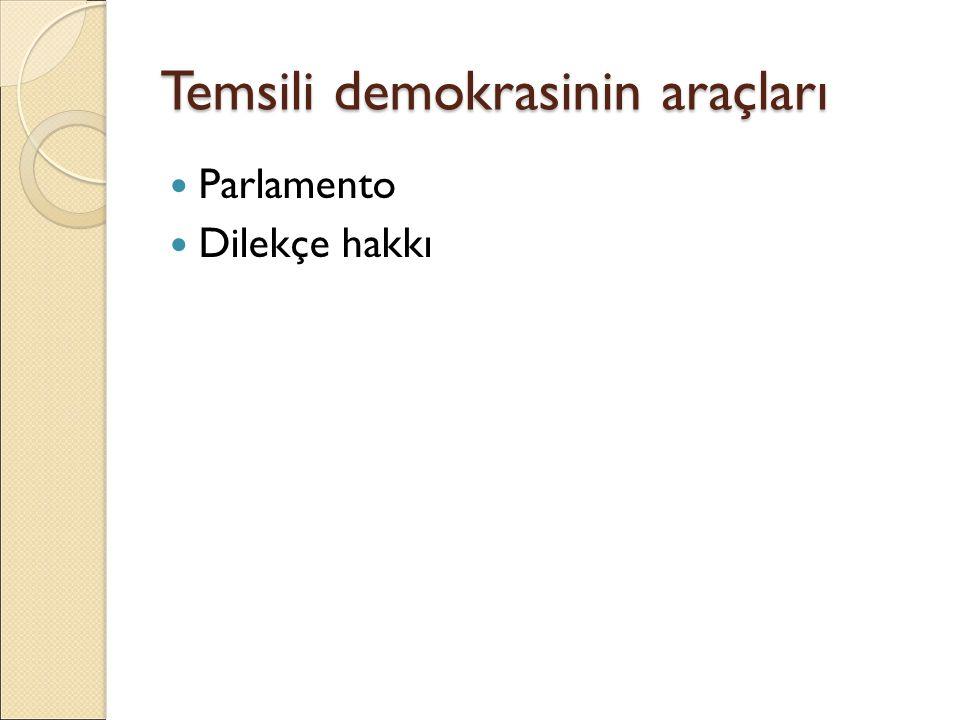 Temsili demokrasinin araçları