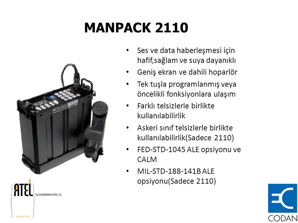 MANPACK 2110 Ses ve data haberleşmesi için hafif,sağlam ve suya dayanıklı. Geniş ekran ve dahili hoparlör.