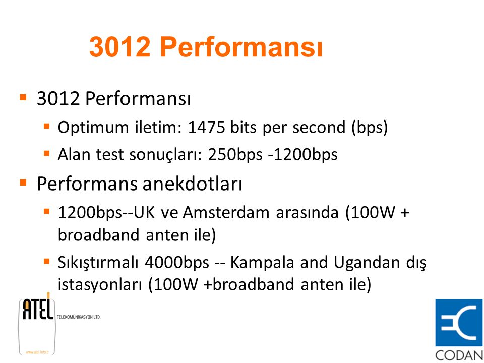 3012 Performansı 3012 Performansı Performans anekdotları