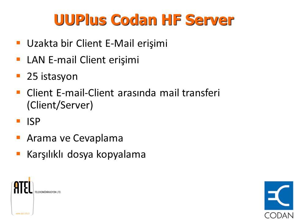 UUPlus Codan HF Server Uzakta bir Client E-Mail erişimi