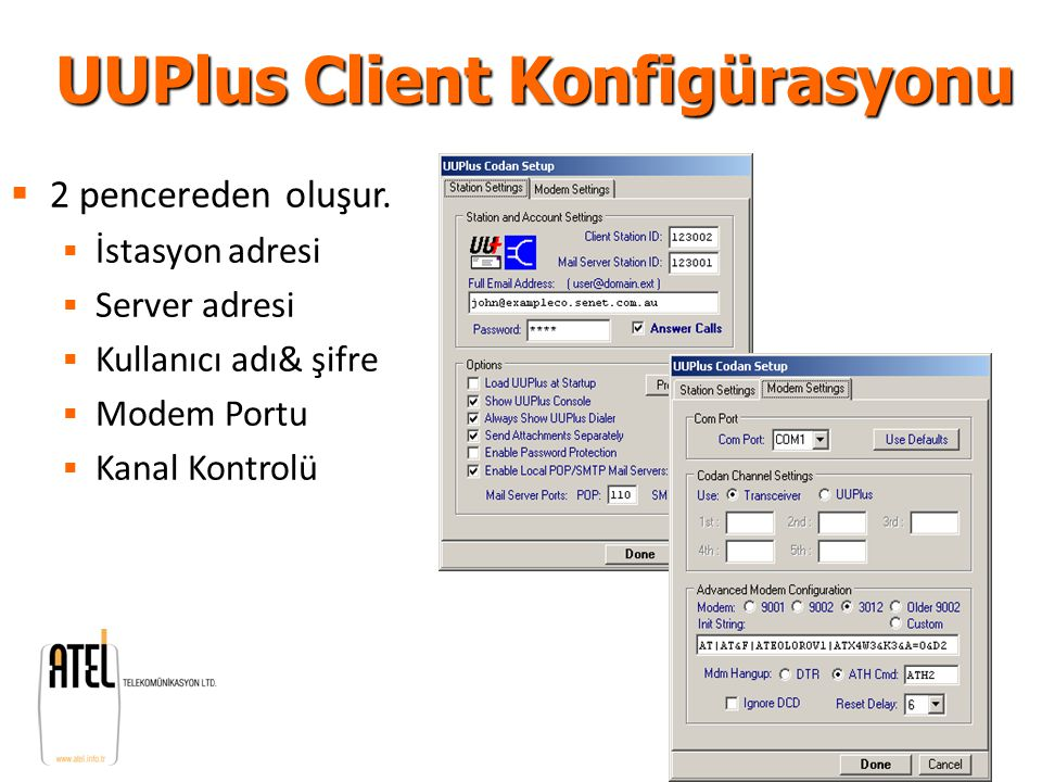 UUPlus Client Konfigürasyonu