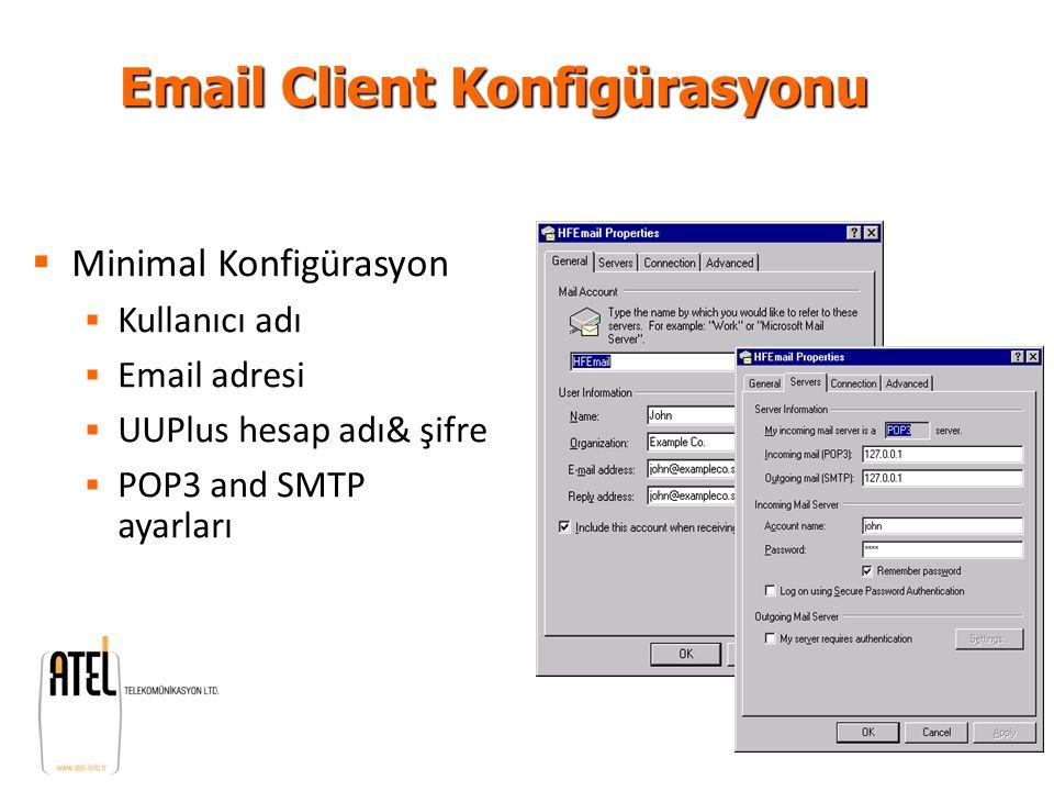 Email Client Konfigürasyonu