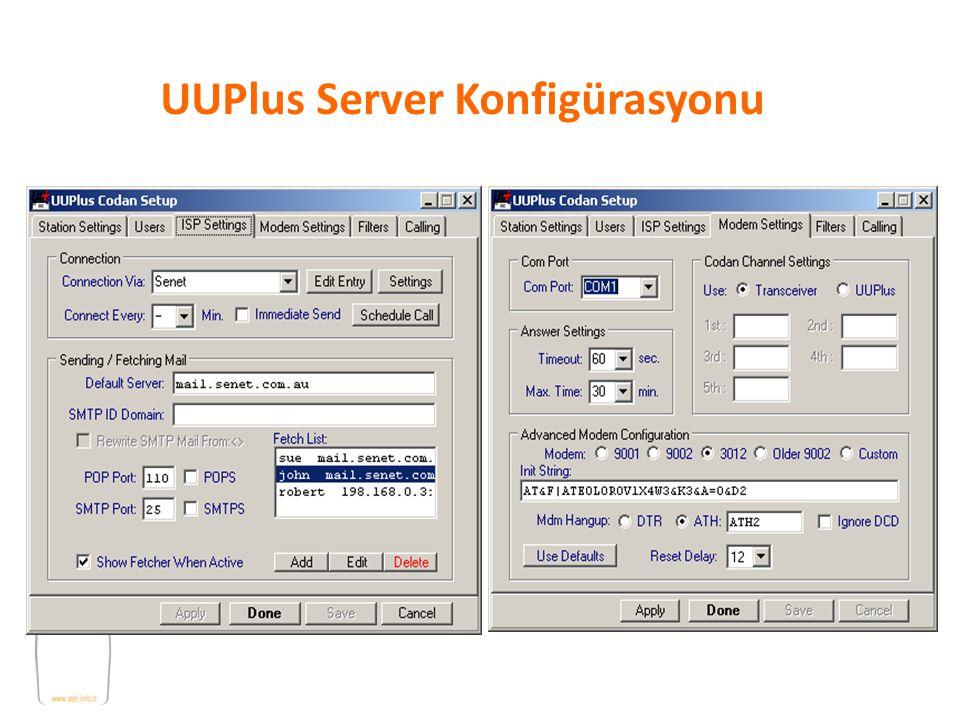UUPlus Server Konfigürasyonu