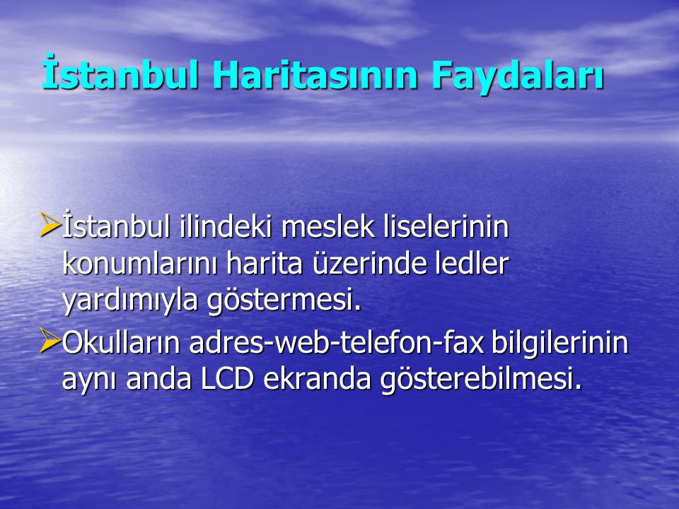 İstanbul Haritasının Faydaları