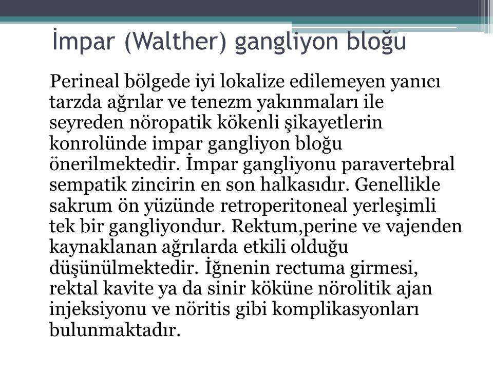 İmpar (Walther) gangliyon bloğu