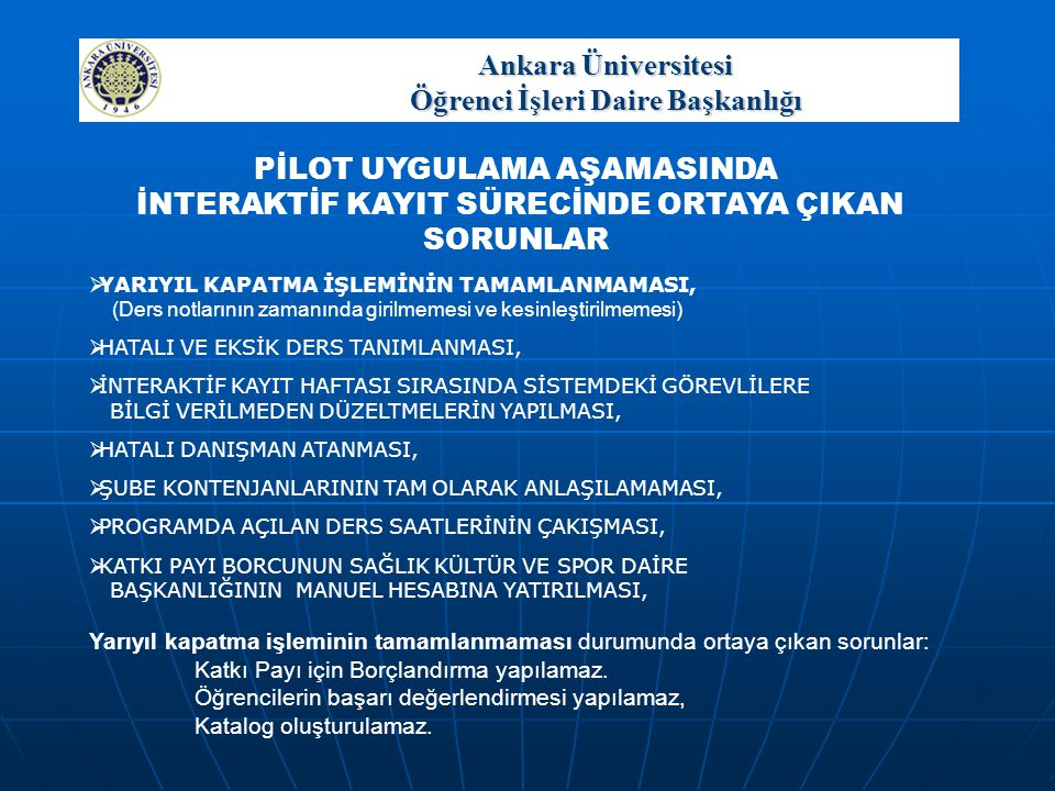 Ankara Üniversitesi Öğrenci İşleri Daire Başkanlığı
