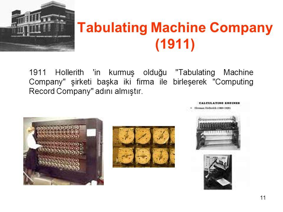 Tabulating Machine Company (1911)