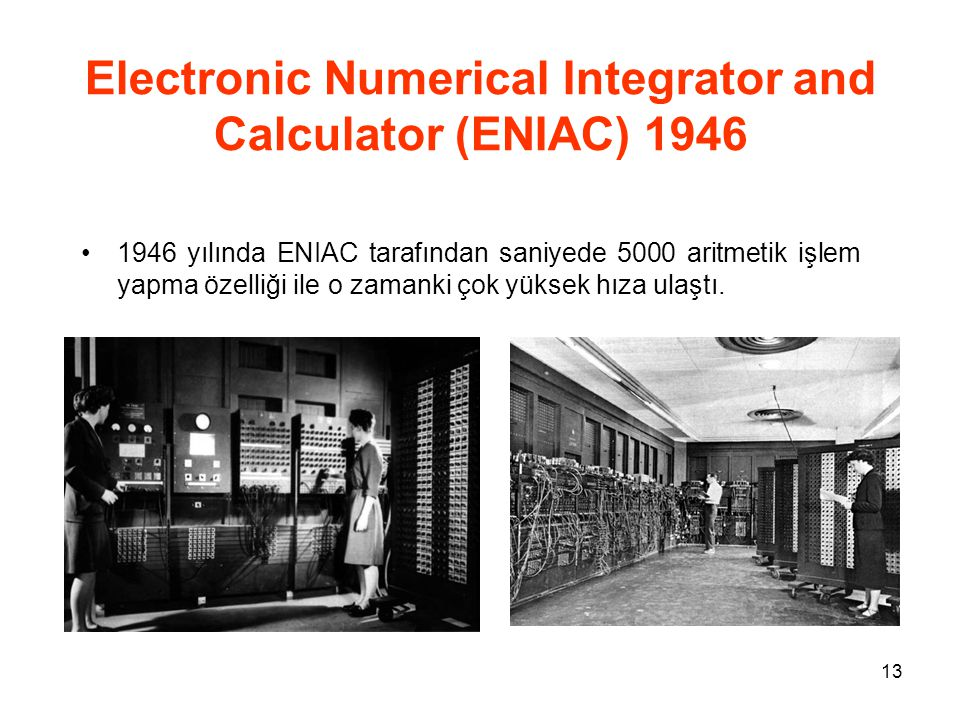 Electronic Numerical Integrator and Calculator (ENIAC) 1946