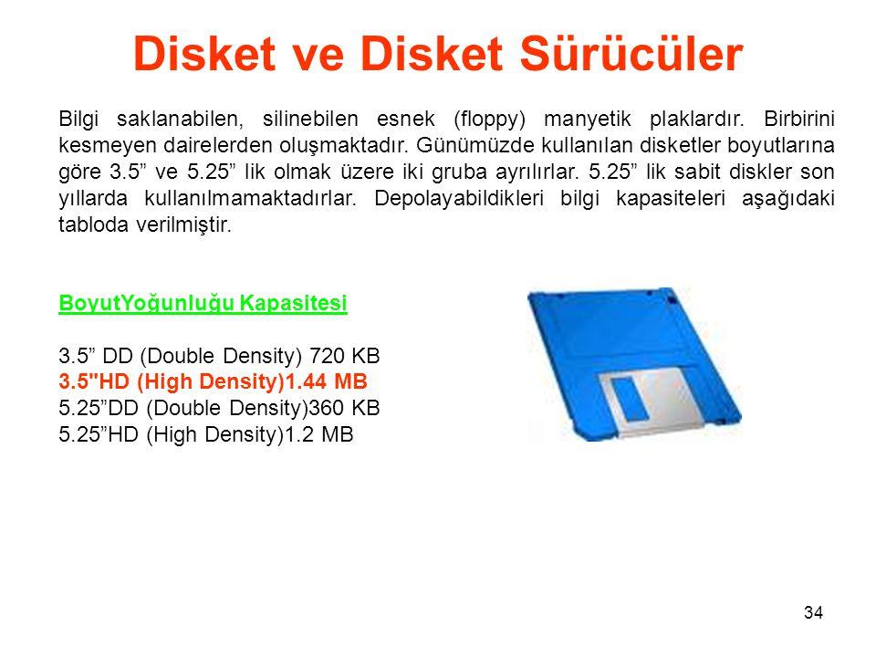 Disket ve Disket Sürücüler