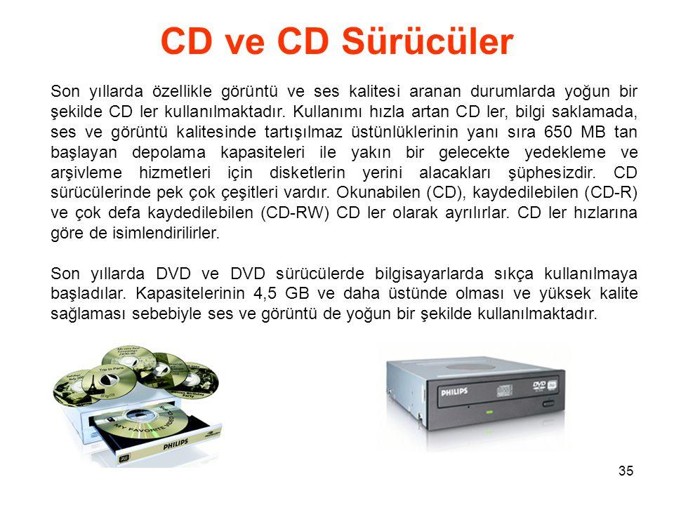 CD ve CD Sürücüler