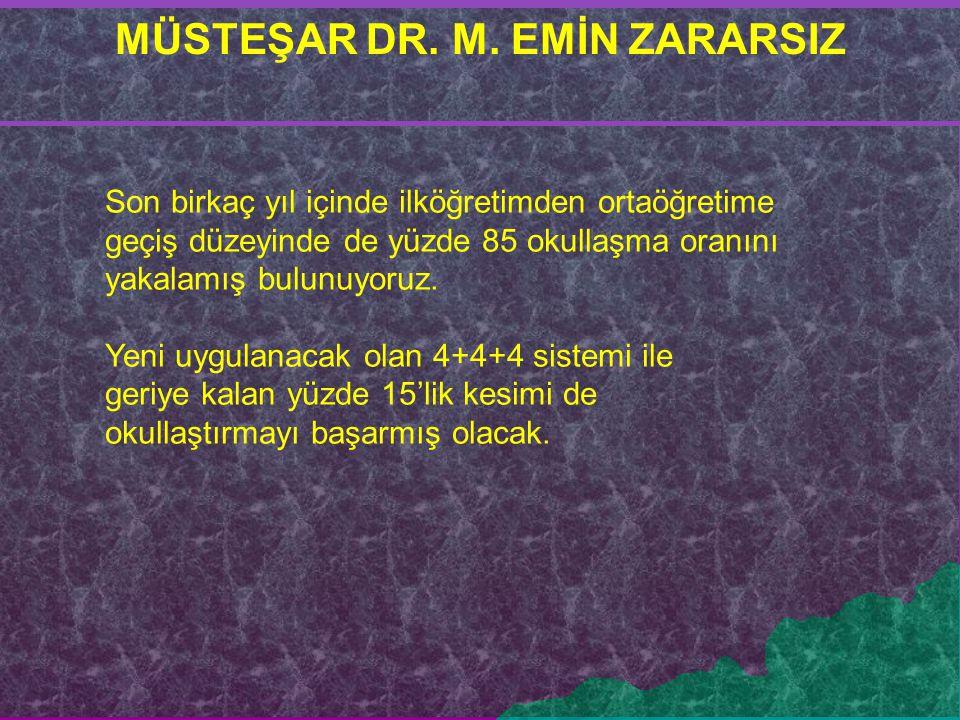 MÜSTEŞAR DR. M. EMİN ZARARSIZ
