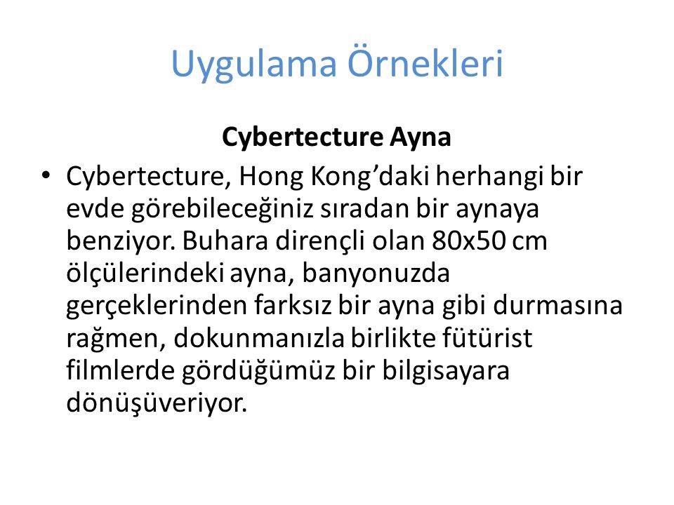 Uygulama Örnekleri Cybertecture Ayna