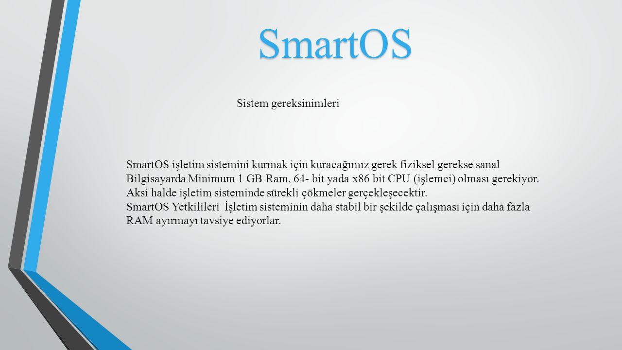 SmartOS Sistem gereksinimleri