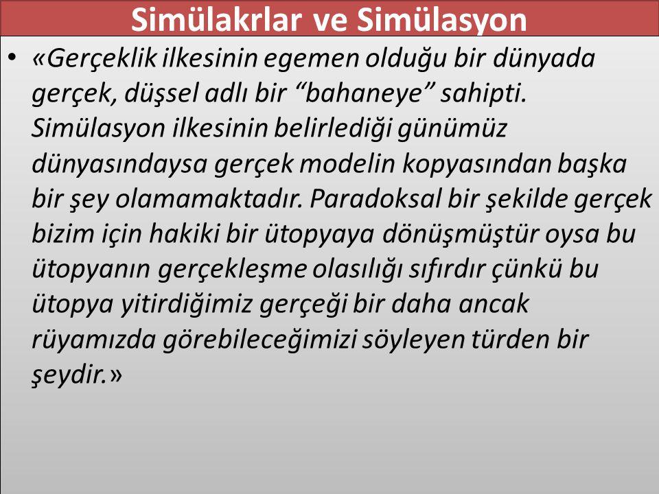 Simülakrlar ve Simülasyon