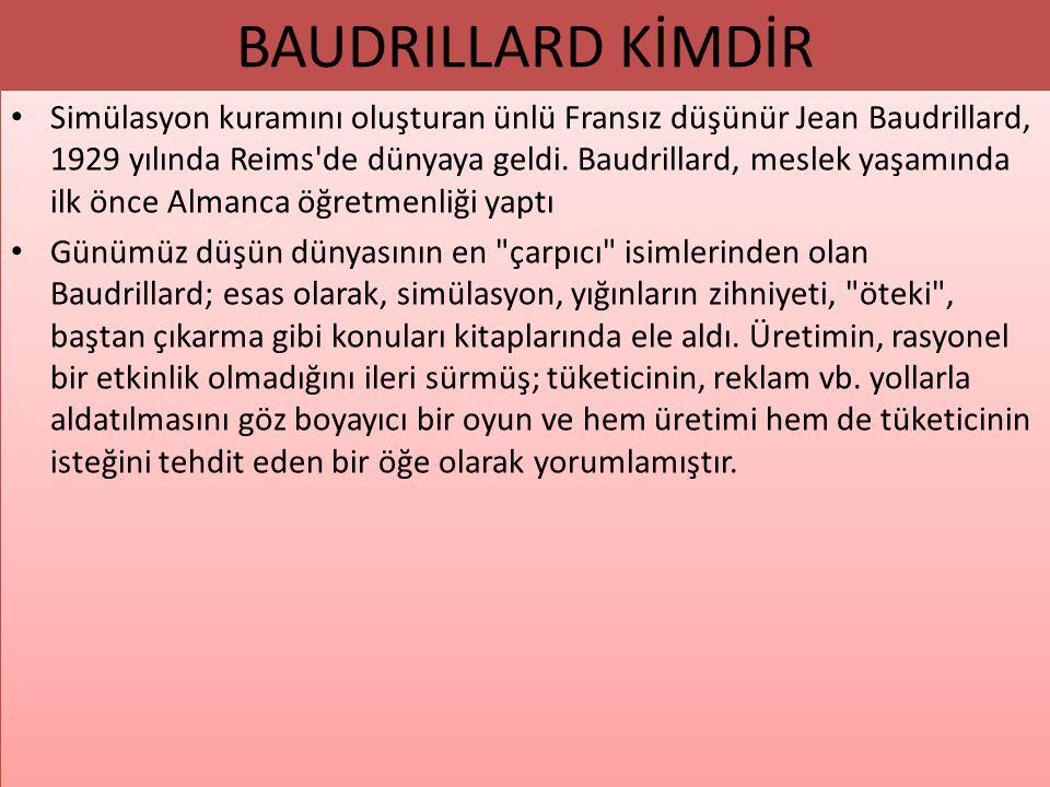 BAUDRILLARD KİMDİR