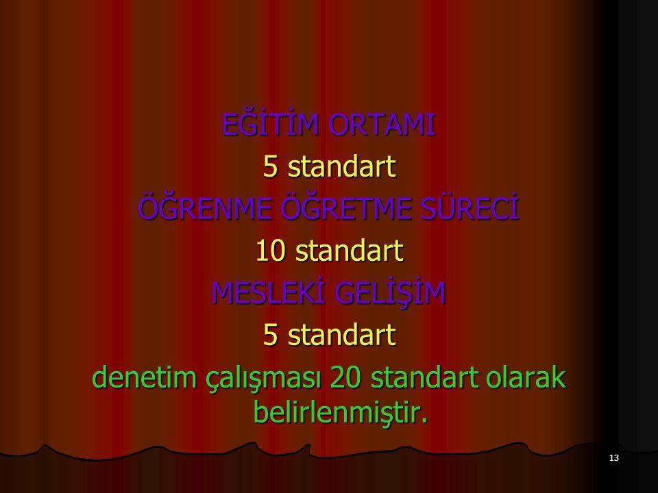 ÖĞRENME ÖĞRETME SÜRECİ 10 standart MESLEKİ GELİŞİM