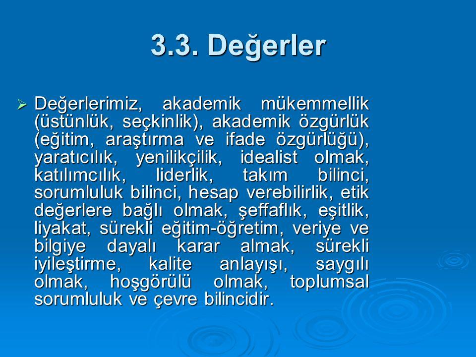 3.3. Değerler
