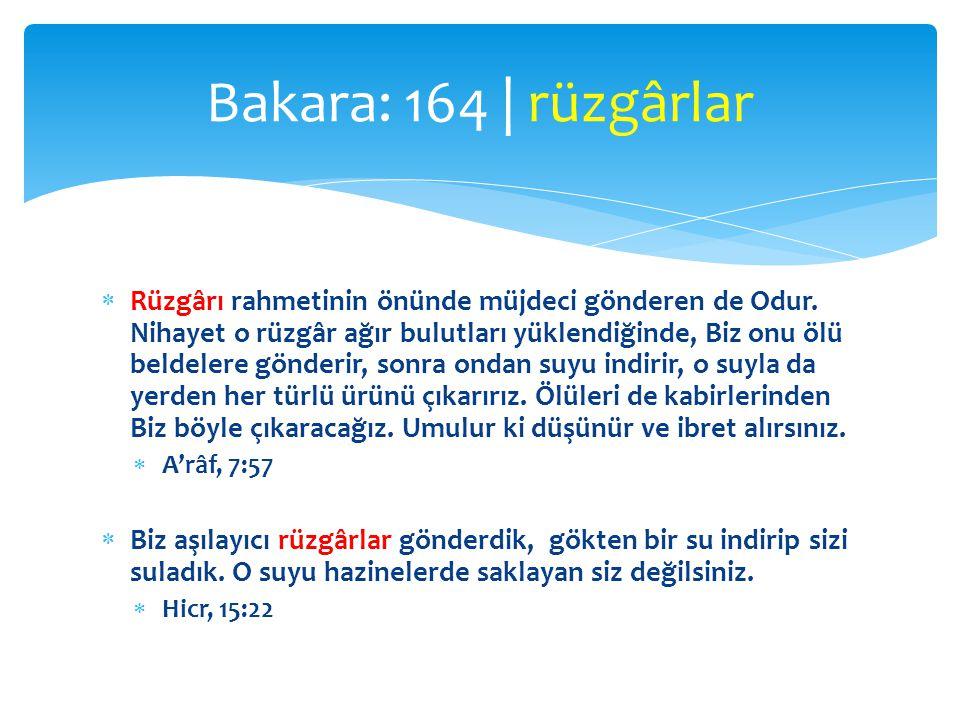 Bakara: 164 | rüzgârlar