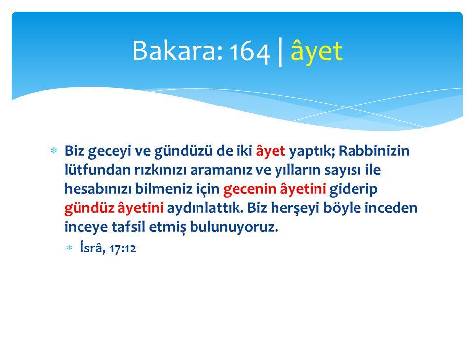 Bakara: 164 | âyet