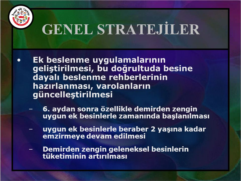 GENEL STRATEJİLER