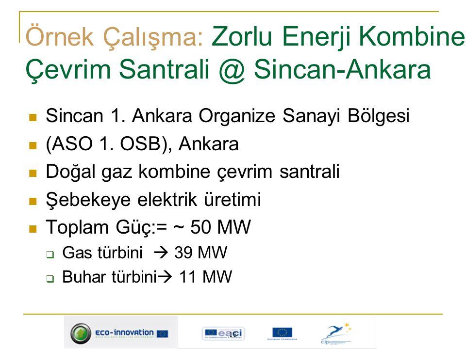 Örnek Çalışma: Zorlu Enerji Kombine Çevrim Santrali @ Sincan-Ankara