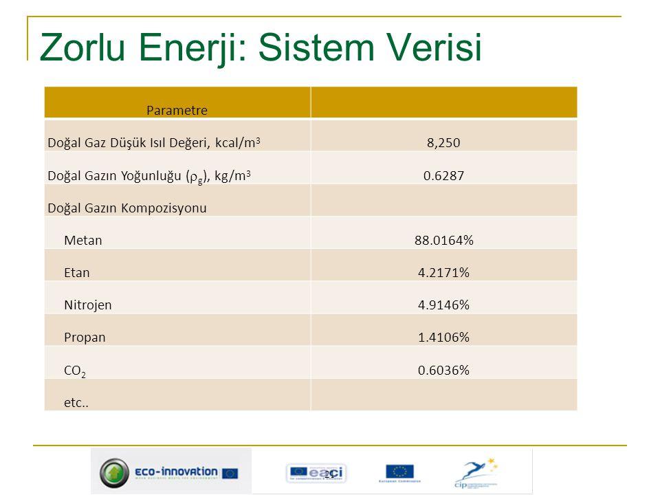 Zorlu Enerji: Sistem Verisi